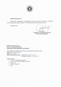PDD kamu Diplomasisi Egitim Semineri Duyurusu